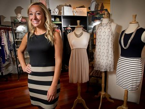 Liz Rymar is the owner of fashion brand ellelauri and a retail store in Liberty Place at 16th and Chestnut St.. ( ALEJANDRO A. ALVAREZ / STAFF PHOTOGRAPHER )